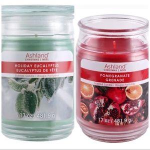 Set of 2 winter candles Ashland